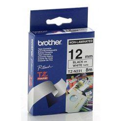 Brother TZ-N231, bílá / černá (12mm nelaminované)