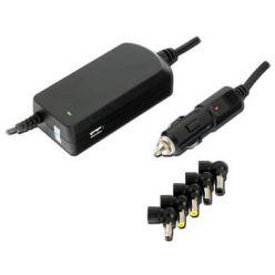 Univerzální autoadaptér 90W, 19V, 6koncovek, USB