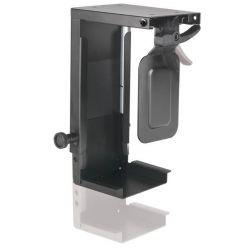 Držák PC pod desku stolu, černý, 10kg