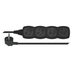 Emos Prodlužovací kabel 4 zásuvky, 3m, černý