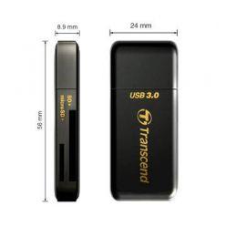 Transcend F5, čtečka paměťových karet, USB 3.0, černá