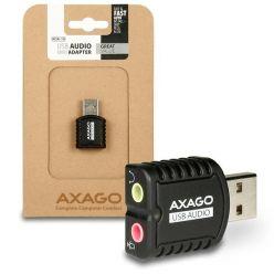AXAGO ADA-10, externí stereo zvuková karta, USB 2.0
