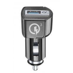 Autonabíječka CellularLine s Quick Charge 3.0, 18W, 1x USB-A, černá