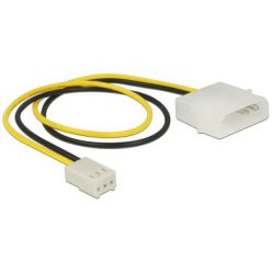 Delock Power Cable 2 pin male > 3 pin female (fan) 30 cm