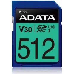 ADATA 512GB SDXC karta, UHS-I U3 V30S, 95R/60W