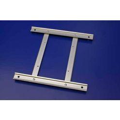 Adaptér VESA 100x100 -> 100x200 / 200x200, nastavitelný, stříbrný
