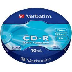Verbatim Extra protection CD-R 700MB, 52x, 10 kusů, wrap