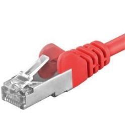 Premiumcord Patch kabel CAT6a S-FTP, RJ45-RJ45, AWG 26/7 0,5m, červená