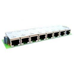 MaxLink pasivní POE panel, 8 portů, svorkovnice, bez krytu