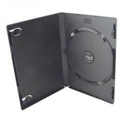 Plastový DVD box pro 1 DVD - 14mm, černý