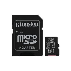 Kingston Canvas Select Plus 64GB microSDXC karta, UHS-I U1, A1 + adaptér