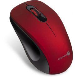 """CONNECT IT """"MUTE"""" bezdrátová optická tichá myš, USB, červená"""
