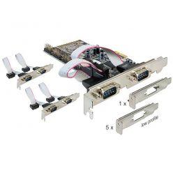 Delock 6-portový sériový řadič, LP. PCIe