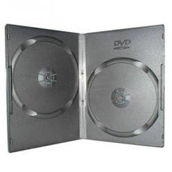 Plastový DVD box pro 2 DVD - 14mm, černý