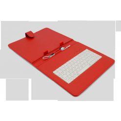 "AIREN AiTab Leather Case 3, 9.7"" pouzdro s klávesnicí, microUSB, CZ, červené"