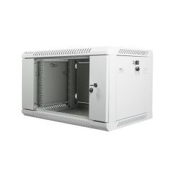 Nástěnný rack 19' 6U 600X450mm šedý