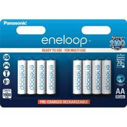 Panasonic eneloop, AA, Ni-Mh, 8ks, 1900mAh, 2100 cyklů