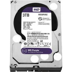 "WD Purple 3TB, 3.5"" HDD, 5400rpm, 64MB, Low Noise, SATA III"