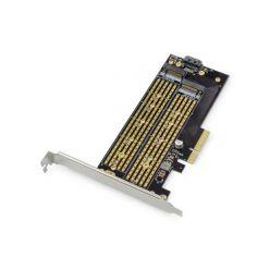 Digitus M.2 NGFF / NVMe SSD PCIexpress Add-On karta podporuje B, M a B + M Key, velikost od 30 ~ 110 mm