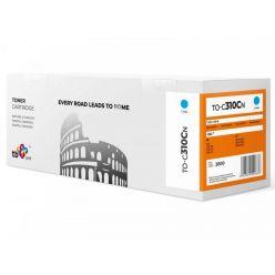 TB náhrada za toner pro OKI C310, azurový, 2000 stran
