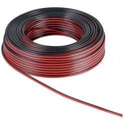 Kabel k reproduktorům, 2x1,5mm2, OFC měď, černo červený, 25m