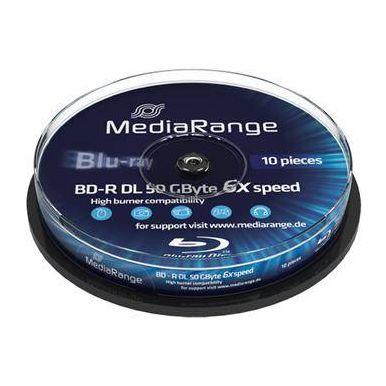 MediaRange BD-R DL disky, 50GB, 6x, 10ks, spindl