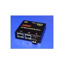 Ethernet přepínač s konvertorem pro optické kabely POF, 2xTP, 1x POF