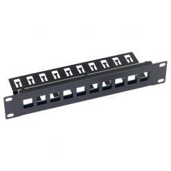 Triton 10' modulární patch panel 1U  pro max. 10ks keystone,otvor 14,8x17,5mm