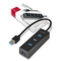 AXAGON 4-portový USB3.0 hub, podpora rychlonabíjení, 30cm kabel