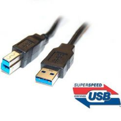 PremiumCord Kabel USB 3.0 Super-speed 5Gbps  A-B, 9pin, 2m