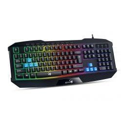 Genius K215, herní podsvícená klávesnice, USB, CZ, černá