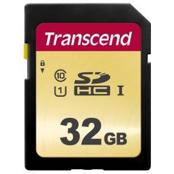 Transcend 500S 32GB SDHC karta, UHS-I U1, MLC, 95R/60W