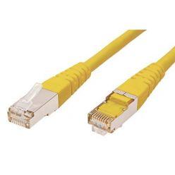 FTP patchkabel kat. 5e, 10m, žlutý