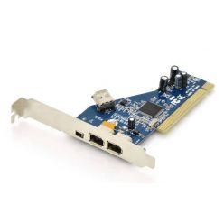 Digitus FireWire řadič, IEEE 1394a , 2x 6-pin + 1x 4-pni + interní 6-pin, PCI