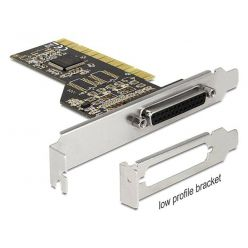 Delock LPT řadič, 1x DB25 samice, Low Profile, PCI