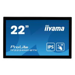 "22"" iiyama TF2234MC-B7X: IPS, FullHD, capacitive, 10P, 350cd/m2, VGA, DP, HDMI, IP65, černý"