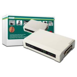 Digitus USB & Parallel Print Server, 3-Port 1x RJ45, 2x USB A, 1x DB-36-pin male Centronic For all common O/S