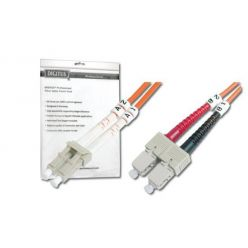 DIGITUS Fiber Optic Patch Cord, LC to SC, Multimode 62.5/125 µ, Duplex Length 2m