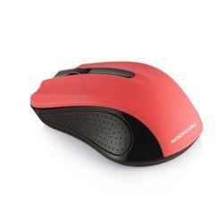 Modecom MC-WM9 bezdrátová optická myš, 3 tlačítka, 1200 DPI, USB nano 2,4 GHz, černo-červená