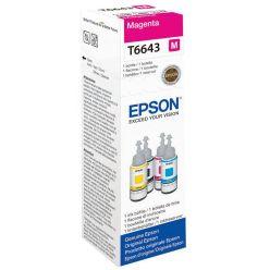 Epson T6643 purpurový inkoust, 70ml, pro L100/L200/L550 - originál