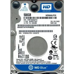 "WD Blue 500GB, 2.5"" HDD, 5400rpm, 16MB, SATA III"