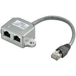 Y adaptér kat.5e, 1xM/2xF, STP (telefon + síť)