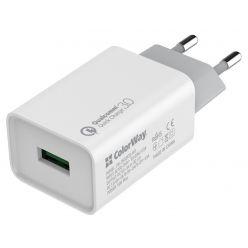 COLORWAY 1x USB/ síťová nabíječka/ 18W/ 100V-240V