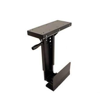 Držák slim PC pod desku stolu, možnost otočení, černý, 10kg