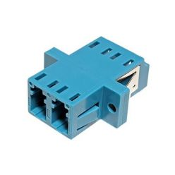 Optická spojka LC, duplex, singlemode, modrá