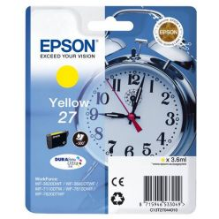 Epson 27 žlutá inkoustová cartridge, 3.6ml, T2704