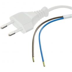 PremiumCord Flexo kabel síťový dvoužilový 230V s vidlicí 3m bílý