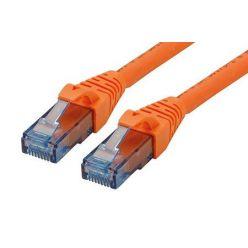 UTP patchkabel kat. 6a, Component Level, 15m, LSOH, oranžový