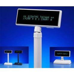 Displej Giga DSP-840U-00, zákaznický displej 2x20 znaků, 9mm, USB, white