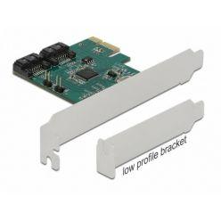 Delock SATA III řadič, 2x SATA, RAID 0/1/span, PCIe